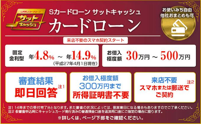滋賀銀行カードローン「サットキャッシュ」とは